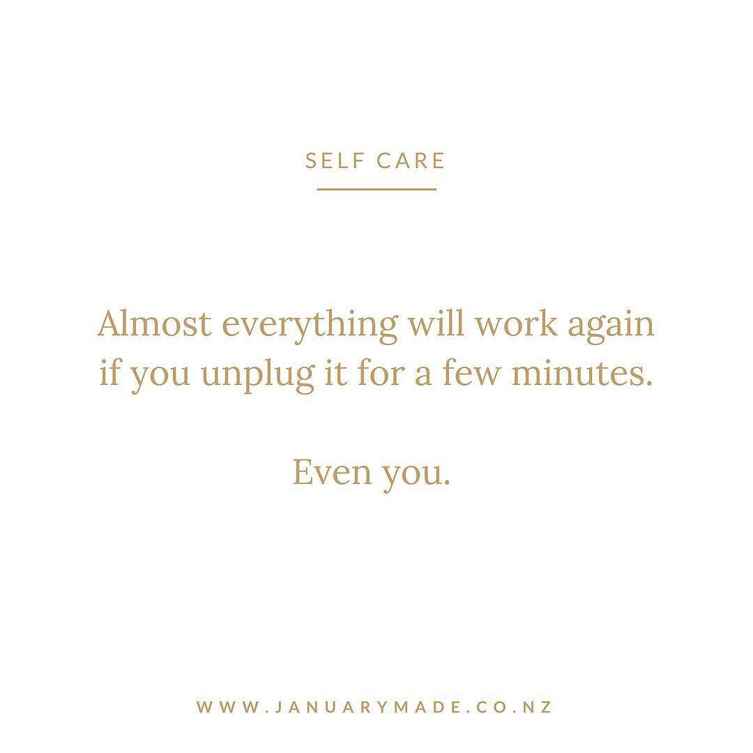 UNPLUG // Ooo I am almost on holiday mode so I feel this quote in my soul BUT we should all try and unplug and reset if we are feeling a bit overwhelmed or even if you aren't you could be headed there. So taking a mini break for 15min 5 days whatever can help immensely . . . I am so excited to switch off the wifi for a bit kickback on aeroplane mode look out at a beautiful view instead of a screen for a few days and unwind. . . . @ninatailles inspired this also. As creatives biz owners…