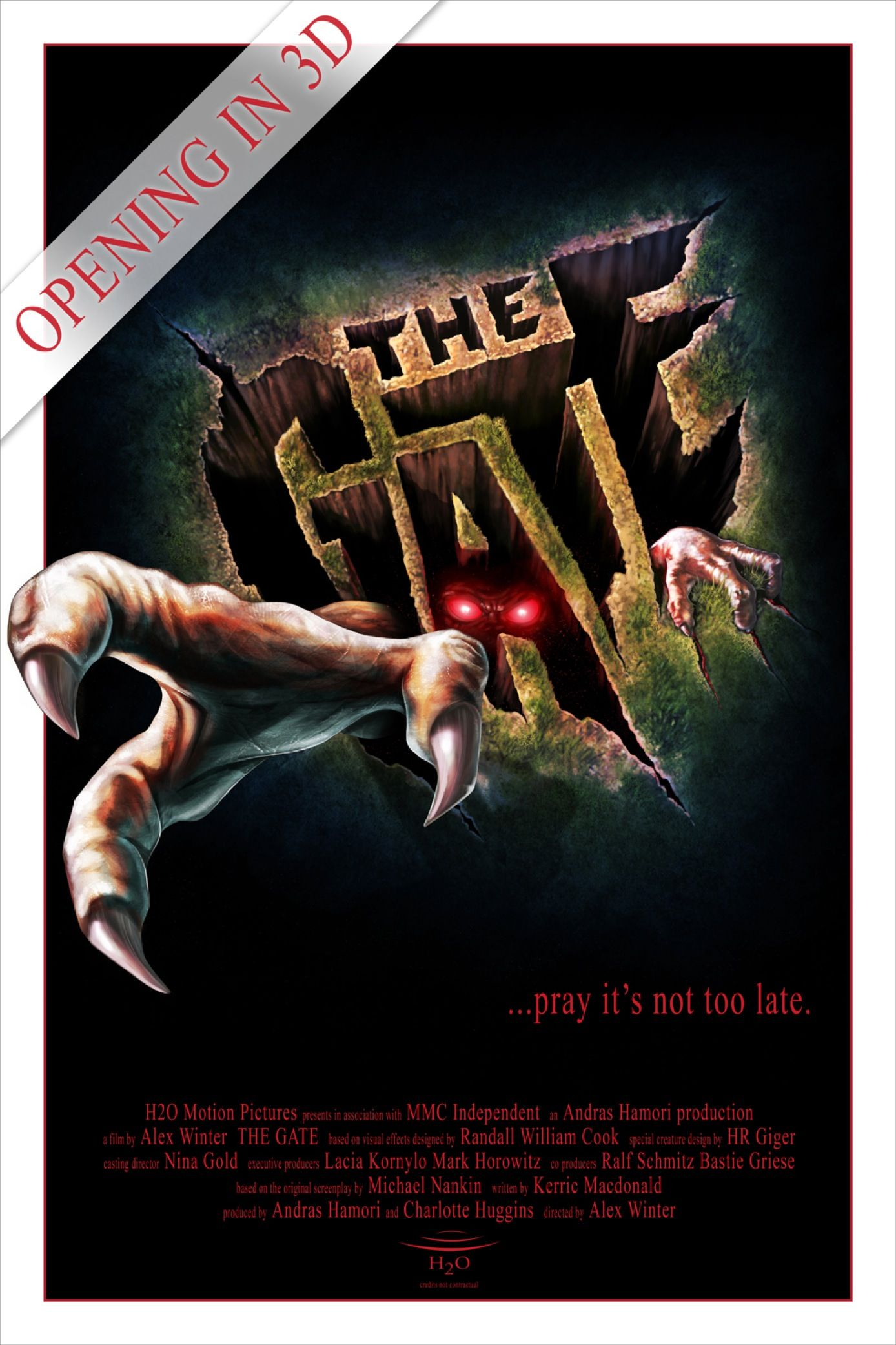 The Gate. 1987. Horror films, Horror movie posters