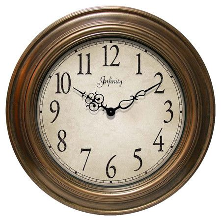 Finished In Antique Gold This Stately Wall Clock Perfectly