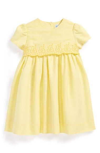 Luli+&+Me+Embroidered+Linen+&+Cotton+Dress+(Baby+Girls)+available+at+#Nordstrom