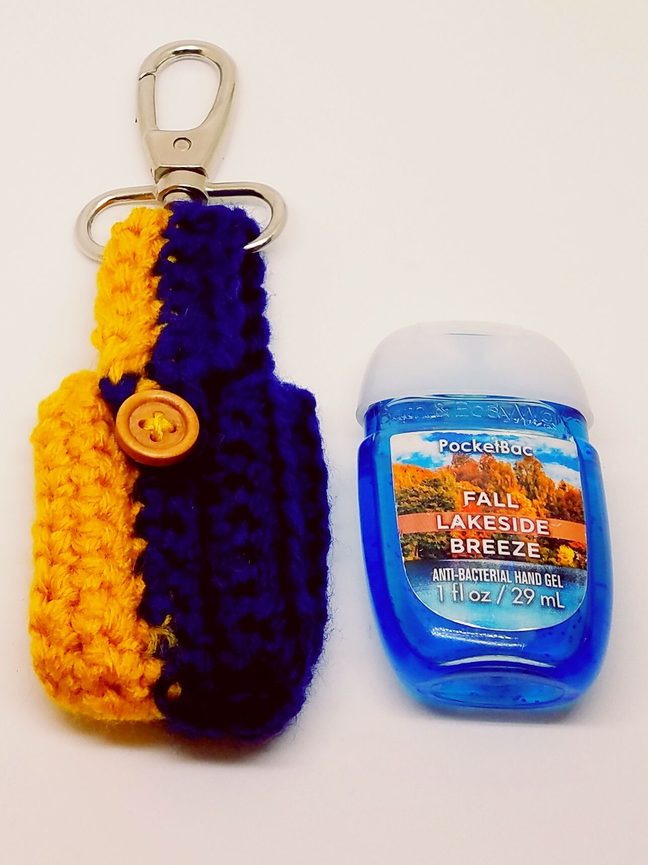 Team Colors Blue And Gold Hand Sanitizer Holder Lotion Holder
