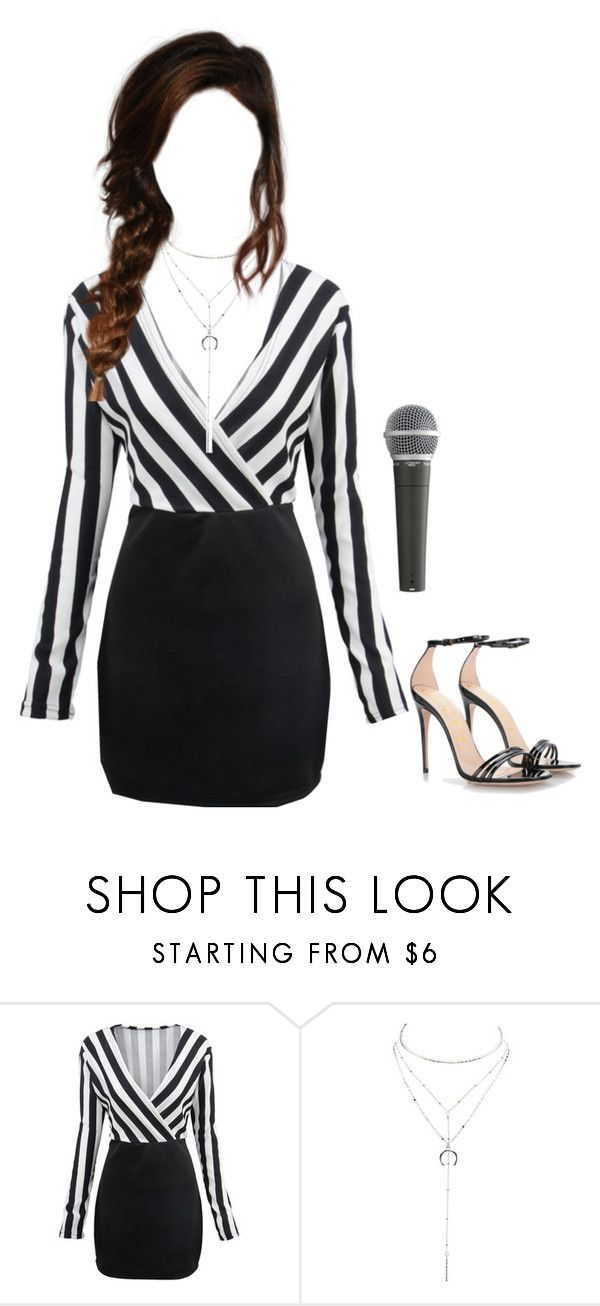 """""""Rylen going to the Kpop Chart Awards"""" by ladonna-paiz ❤ liked on Polyvore featuring WithChic, Charlotte Russe, Gucci and Pyle"""