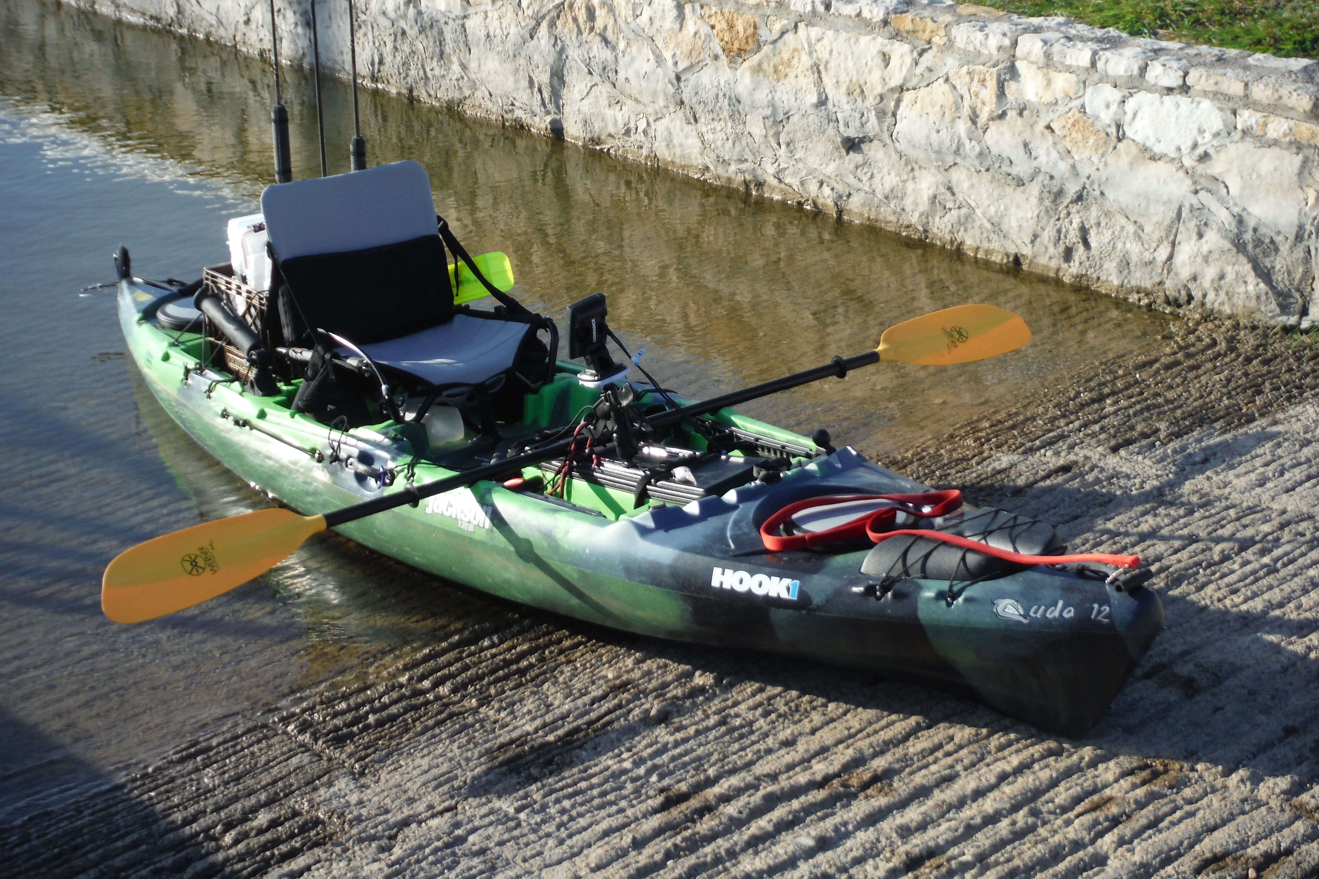 My jackson cuda 12 at wheeler branch park glenrose tx for Bass fishing kayak