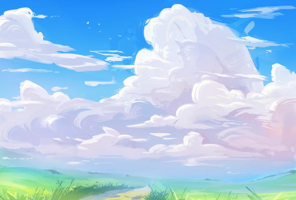 Anime Background By Nieris Anime Background Sky Anime Anime Scenery