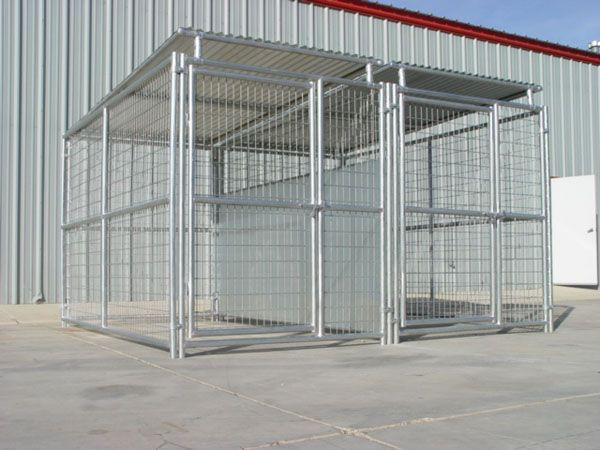 5 X 10 Dog Kennel W Roof Shelter Fight Guard Divider Multiple Dogs Dog Kennel Diy Dog Run