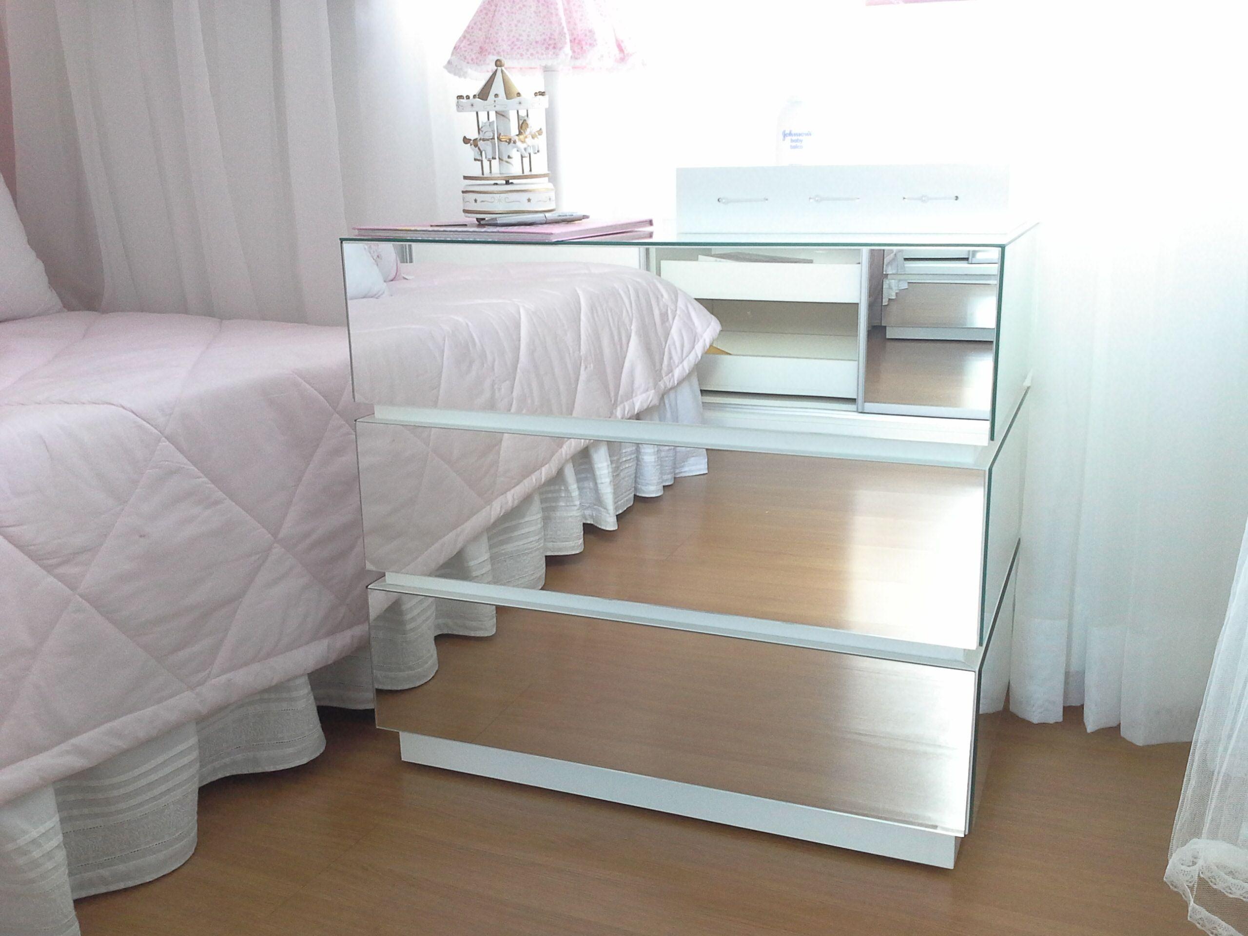 Mesa De Cabeceira Espelhada In 2019 Bunk Beds Decor Bed