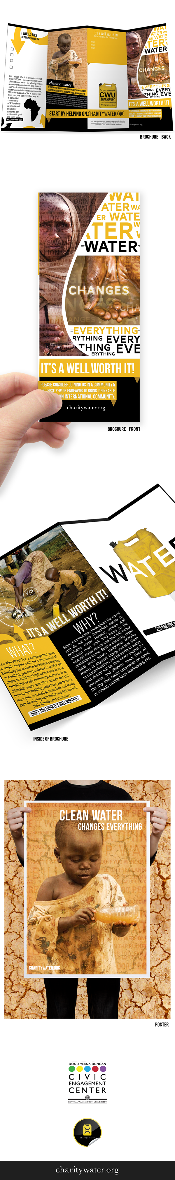 charity water fundraising brochure poster on behance