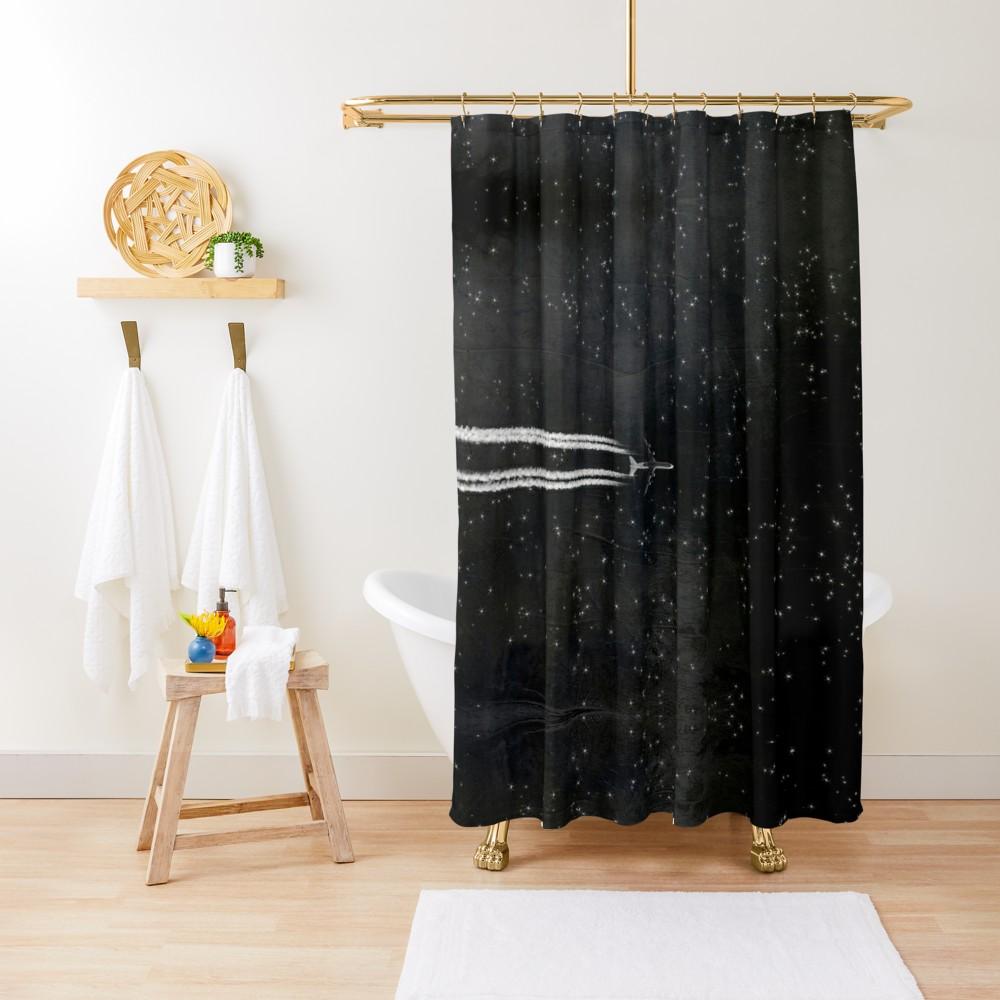 Starflight Shower Curtain By Dirk Wuestenhagen Dark Shower