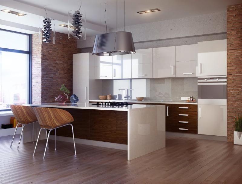 Exceptionnel Cuisine bois et blanc dans un appartement en 25 idées super  TU73