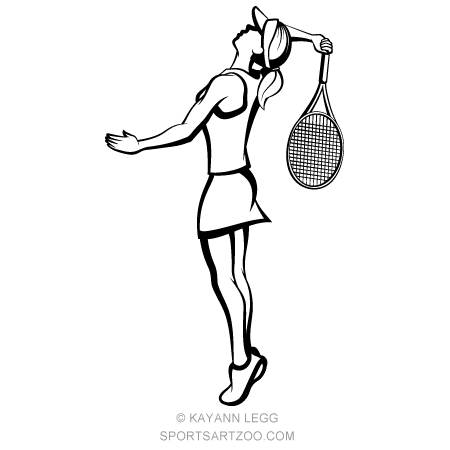 Female Tennis Player Getting Ready To Hit An Overhead Sportsartzoo Tennis Players Female Tennis Players Tennis