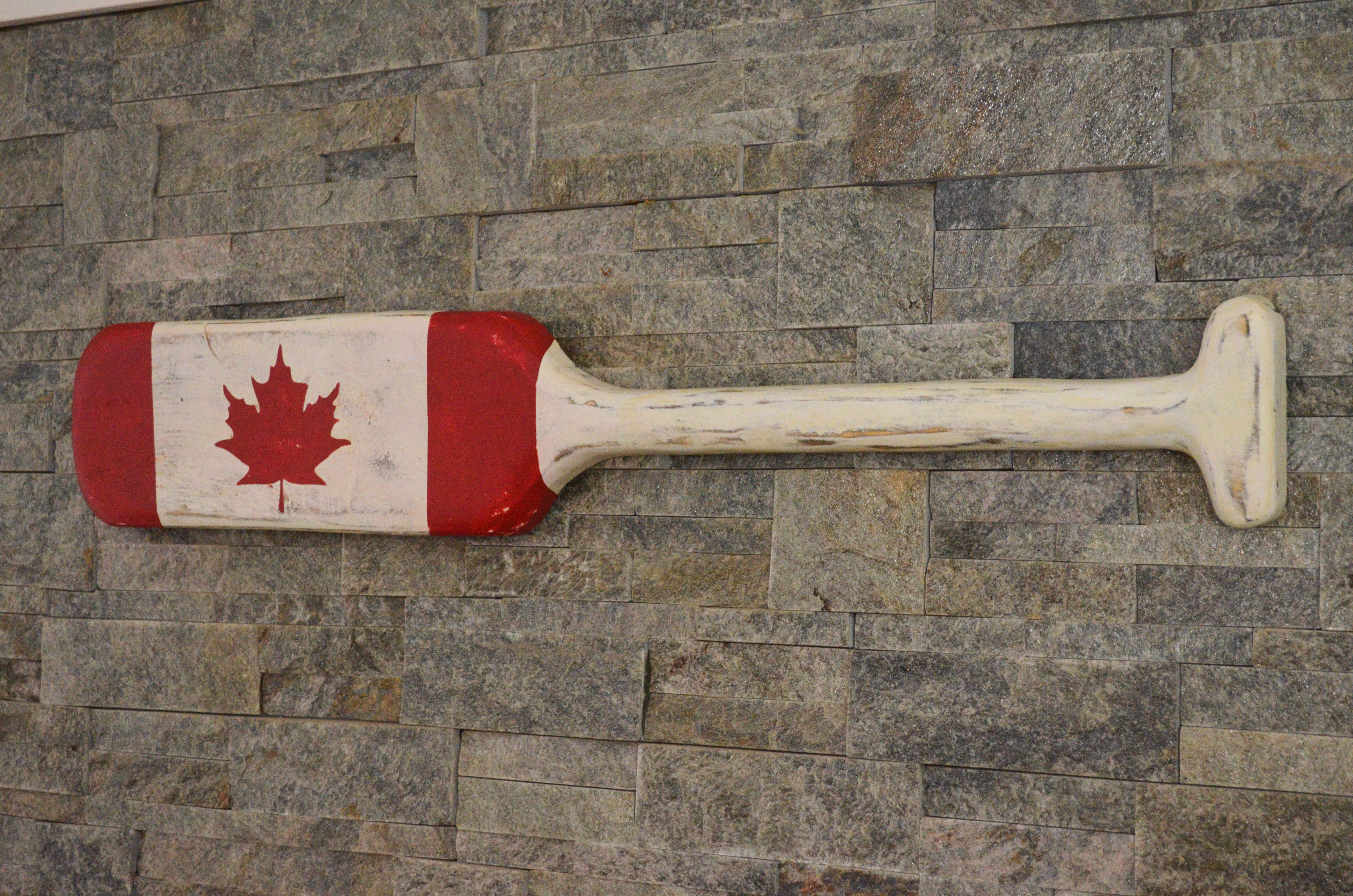 Canadian Flag Paddle Canada Flag On Barnboard Canada 150