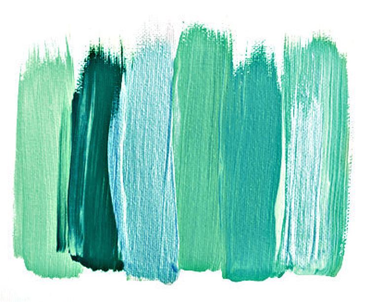 Картинка мазки кистью серо-мятные тона
