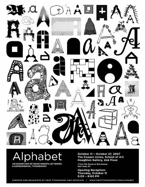 Alphabet exhibition at Cooper Union