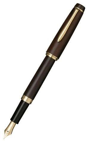 Sailor Precious Wood Ebony Kotutan Fountain Pen with Gold Accents