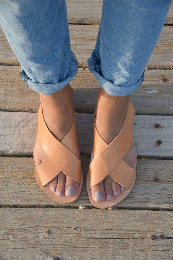 Pisos griegas sandalias de cuero 2d24bef90fe