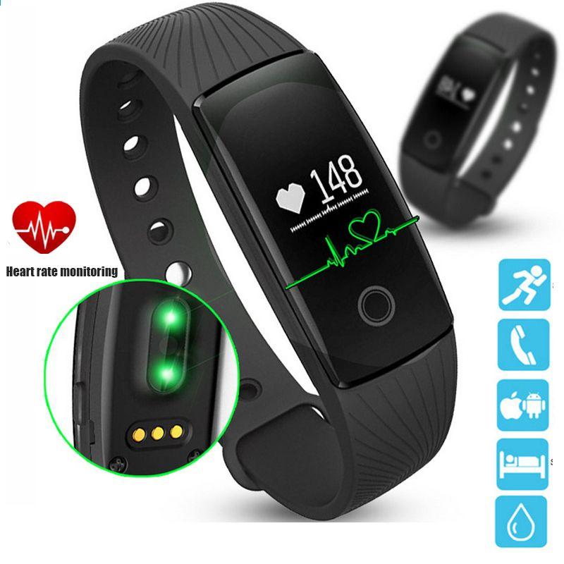 Bluetooth smart watch med hjertefrekvenstracker sleep