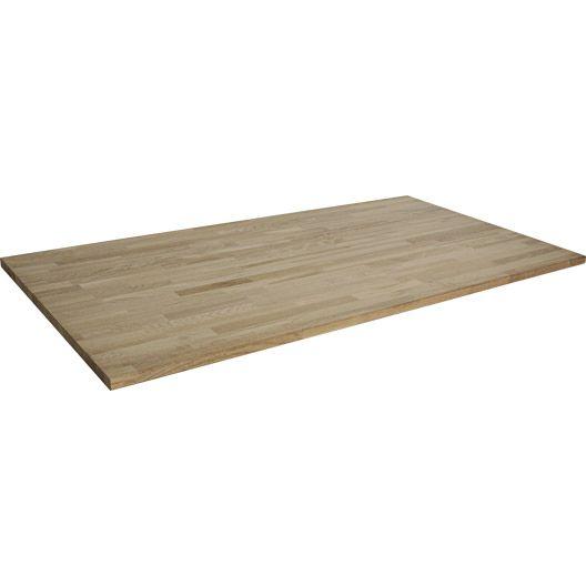 Plateau De Table Soliden Chêne Lamellé Collé, 150X80Cm, Ép. 26.00
