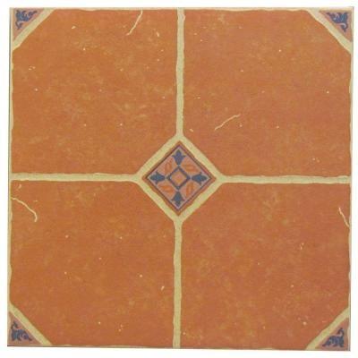 Terra Cotta 16 In X 16 In Ceramic Floor Tile New House