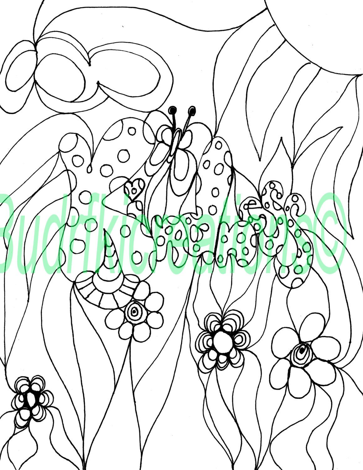 Kindness Fruits of the Spirit Adult Coloring Page Instant Digital ...