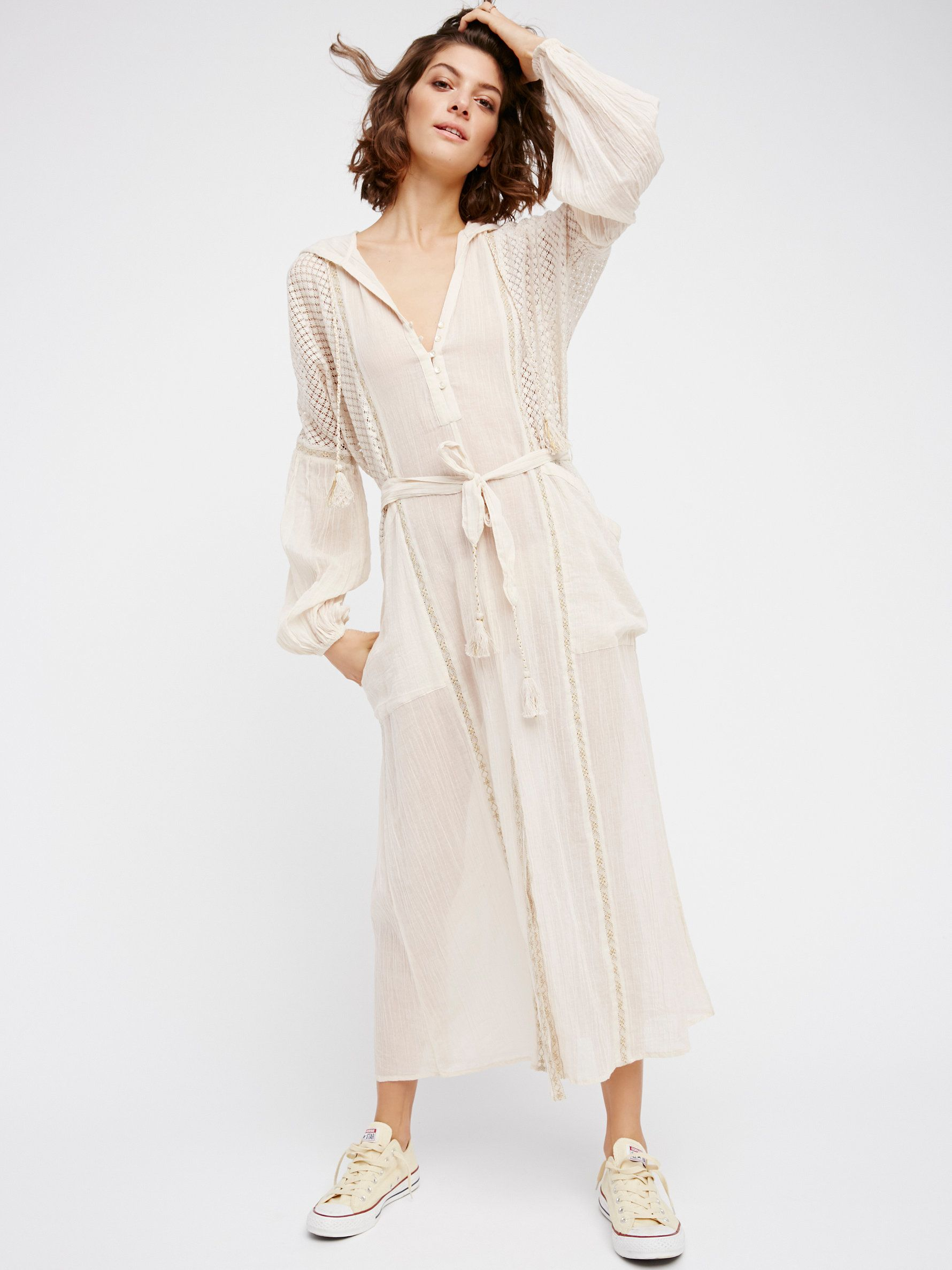 Most loveliest hoodie dress made from our sheer and gauzy endless