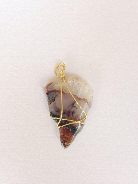 Wire wrapped rock pendant tejido wire wrapped rock pendant by azadouhijewelry aloadofball Gallery