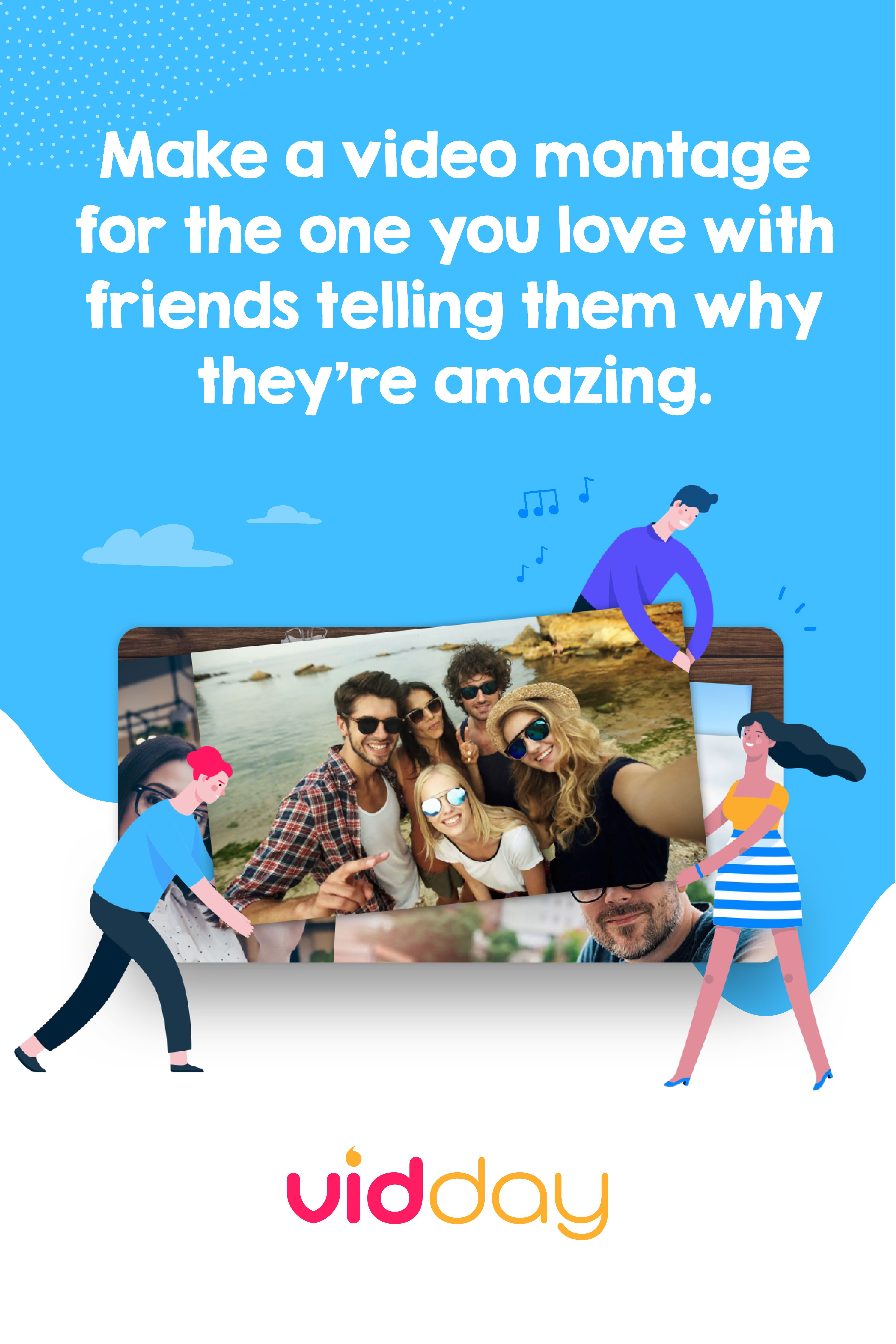 Its like a group greeting card but with video messages