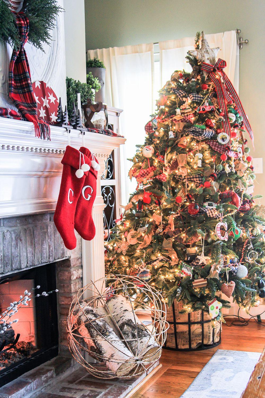 A christmas home tour with farmhouse christmas