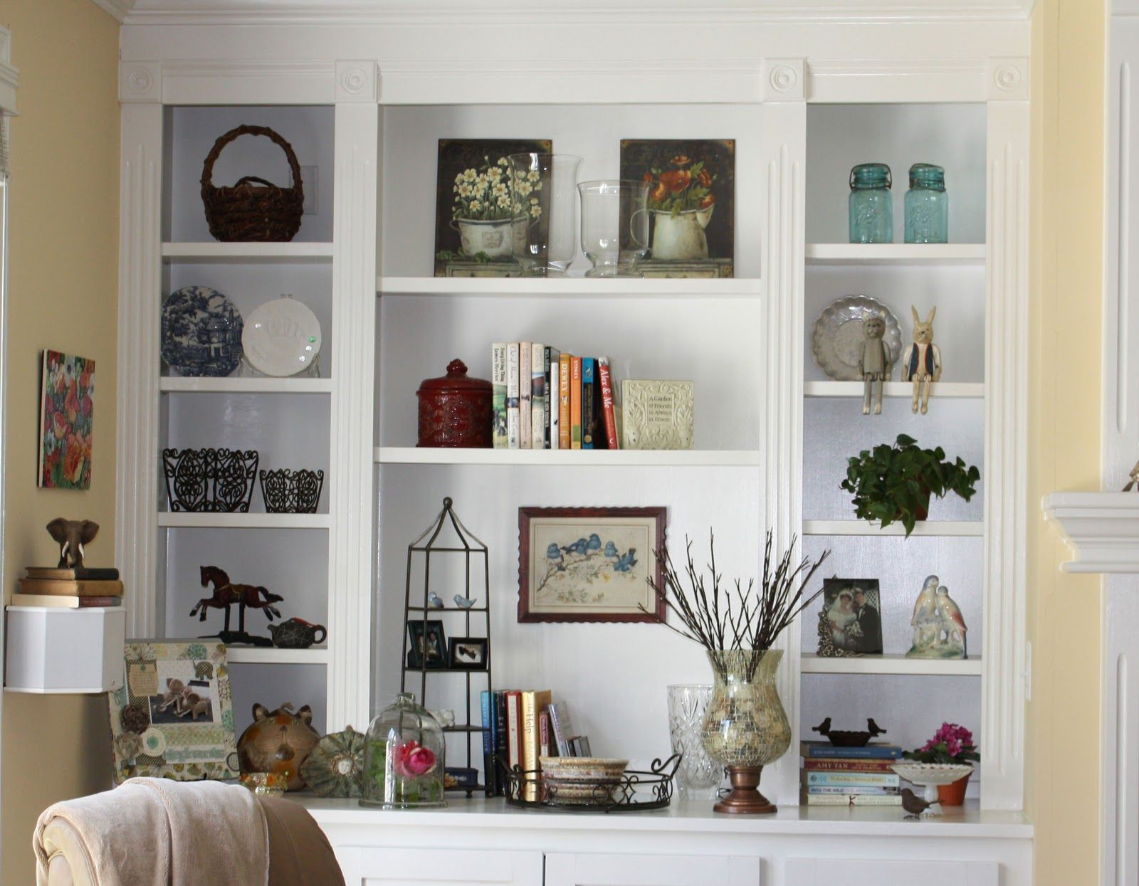 Awesome Built In White Ikea Shelving Unit Ideas For Cr