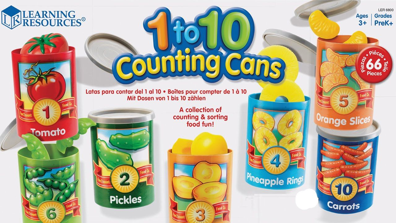 Learning Resources 1-10 Counting Cans New in Box Learning Essentials