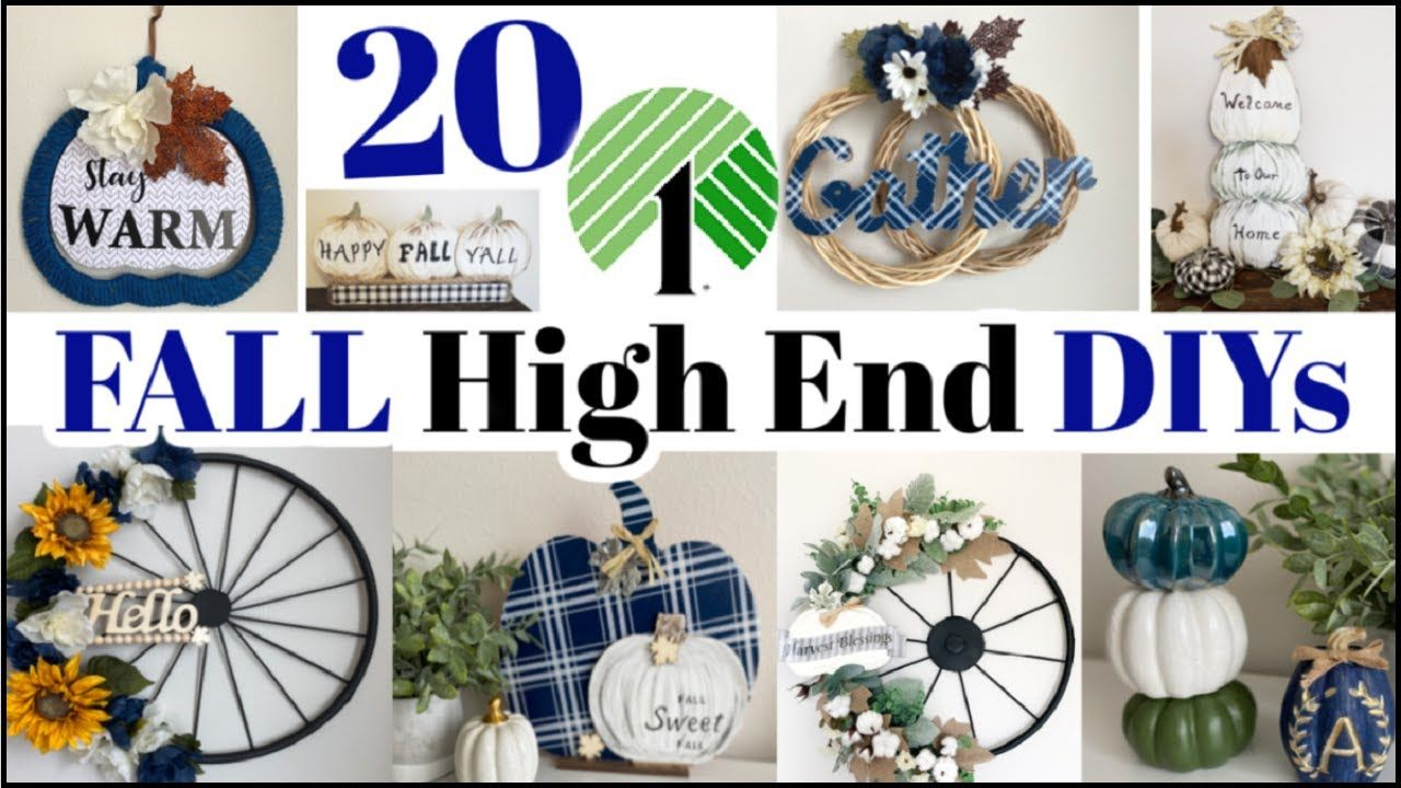 20 High End Dollar Tree DIYs FALL Dollar Tree DIY Home
