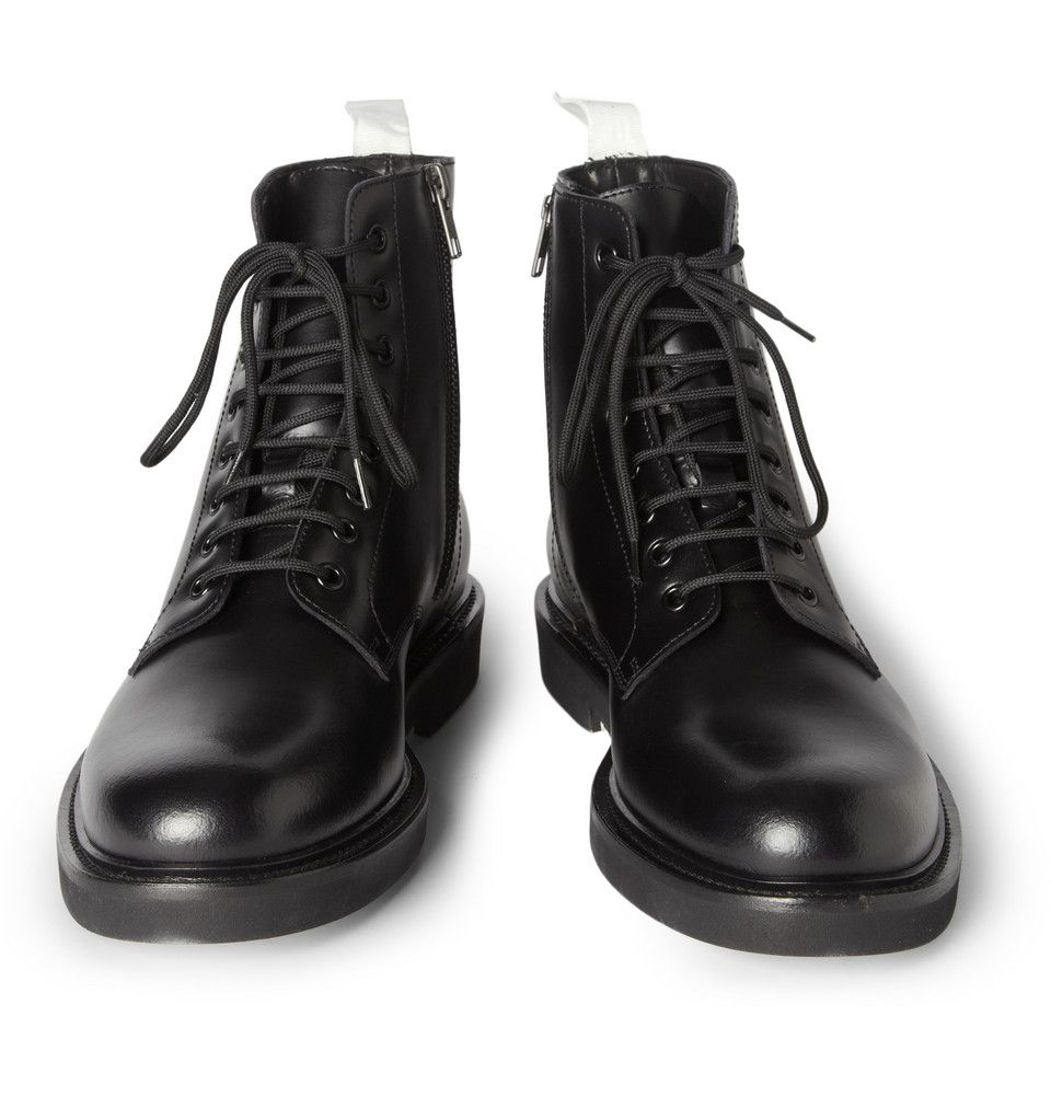 e214fb0cfe9 Common Projects Leather Combat Boots | MR PORTER | Shoes | Mens ...