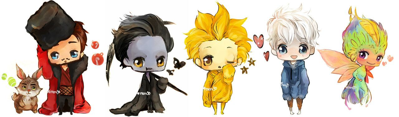 ROTG- chibi set by meru90.deviantart.com on @deviantART //OH MY GOODNESS!!! Bunny, Jack, and Tooth are SO cute!!!