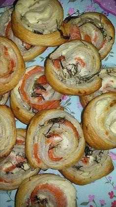 Blätterteig - Lachs - Schnecken, ein gutes Rezept aus der Kategorie Fingerfood. Bewertungen: 336. Durchschnitt: Ø 4,6.