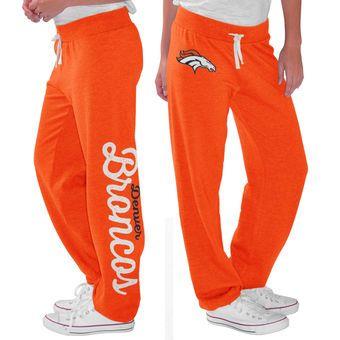 Women s G-III 4Her by Carl Banks Orange Denver Broncos Scrimmage Fleece  Pants fd9f06128b