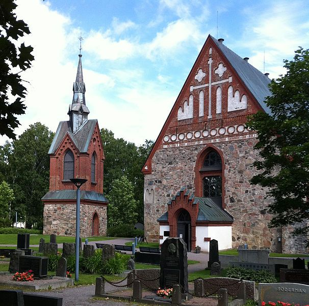 St. Lawrence's Church and bell tower in Vantaa, Finland. Photo Jisis