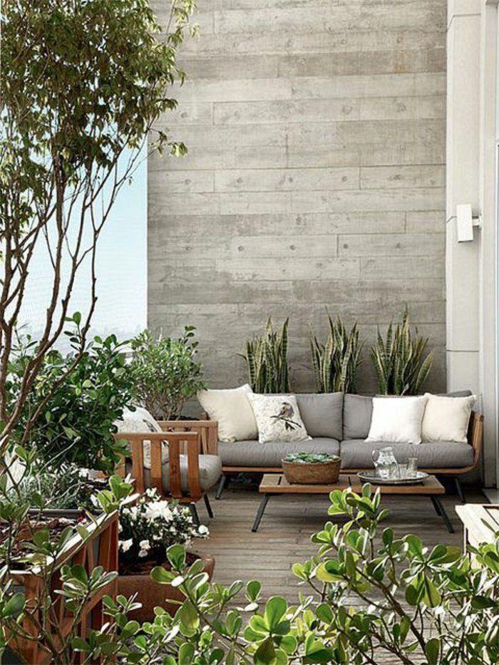 deko terrasse in grauer farbe gr n pinterest graue farben terrasse und grau. Black Bedroom Furniture Sets. Home Design Ideas