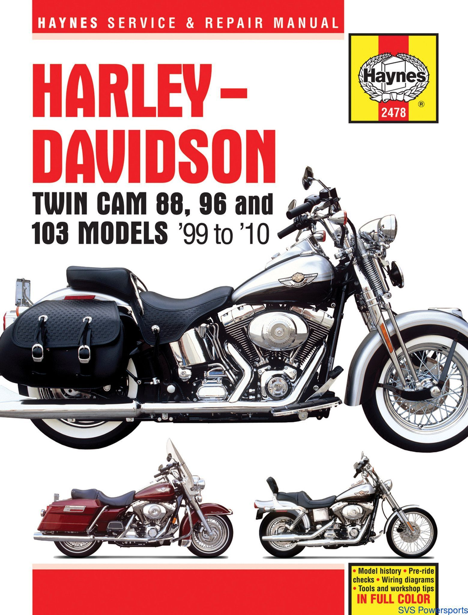 Haynes M2478 Repair Manual for Harley-Davidson Twin Cam 88 / Dyna Glide /  Electr