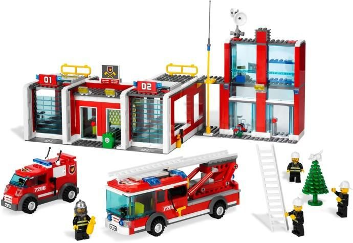 View Complete Lego Instructions For Fire Station 7208 1 To Help You