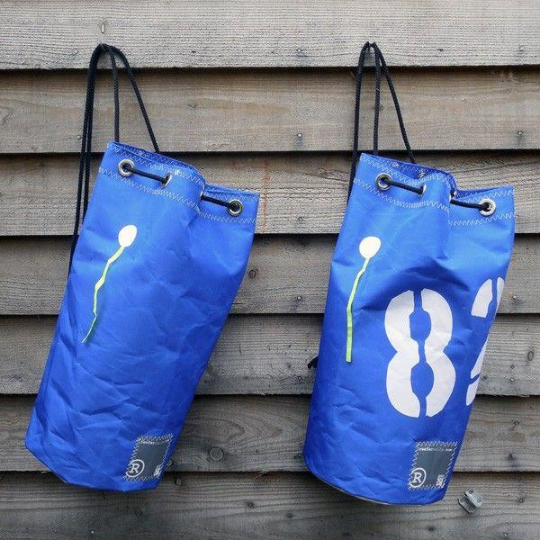 3d999bae1f7b Drifter Blue Recycled Sailcloth Duffel Bag by Reefer Sails
