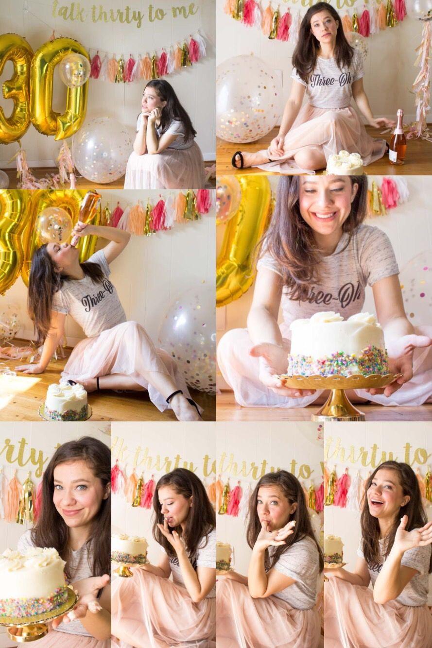 30th birthday cake smash photo shoot smash cake