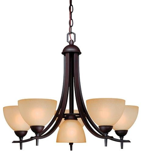 Patriot lighting somerville 25 5 oil rubbed bronze transitional chandelier at menards