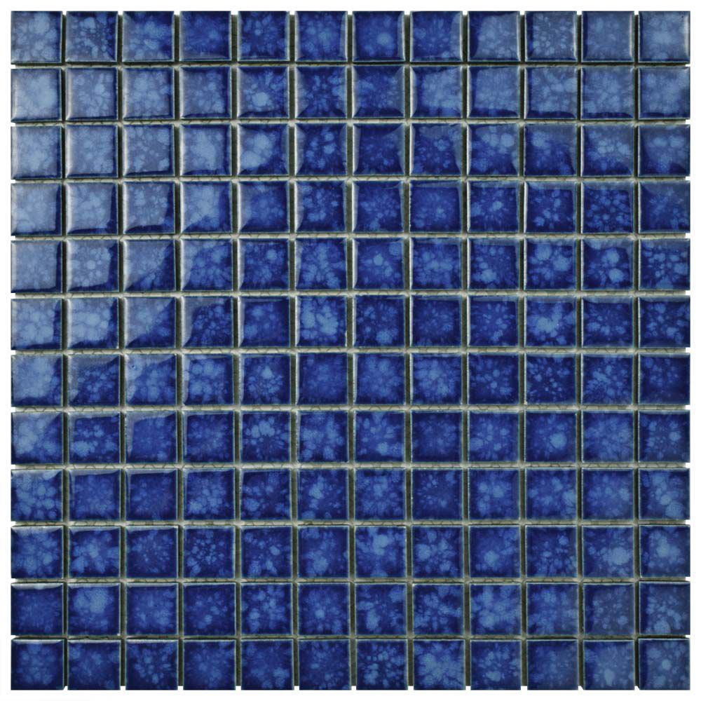 Lagoon Square Pacific 11 3 4 Inch X 11 3 4 Inch X 6 Mm Porcelain Mosaic Tile 9 79 Sq Ft Case Porcelain Mosaic Tile Porcelain Mosaic