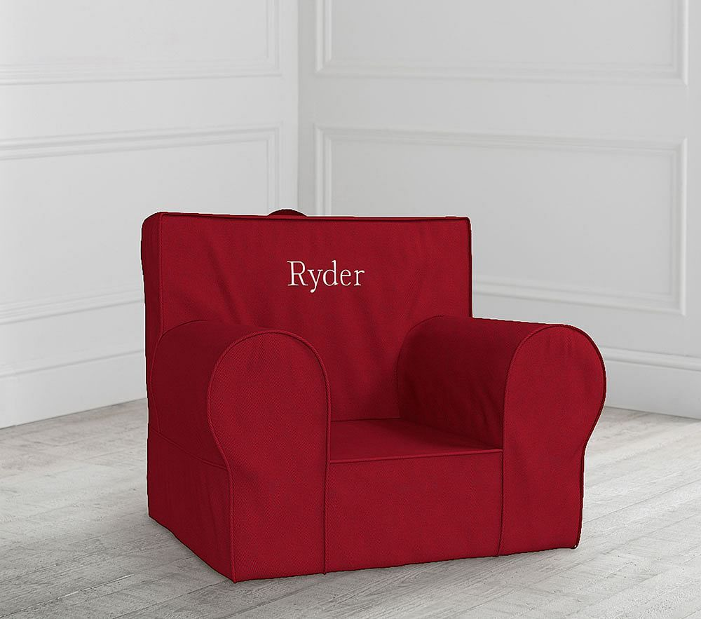 Anywhere Chair Insert Slipcover Set Red At Pottery Barn Kids