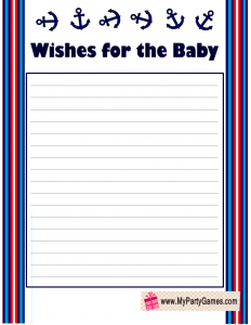 Free Printable Wishes For The Baby Message In A Bottle
