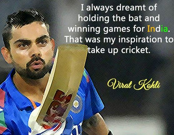 virat kohli quotes cricketers