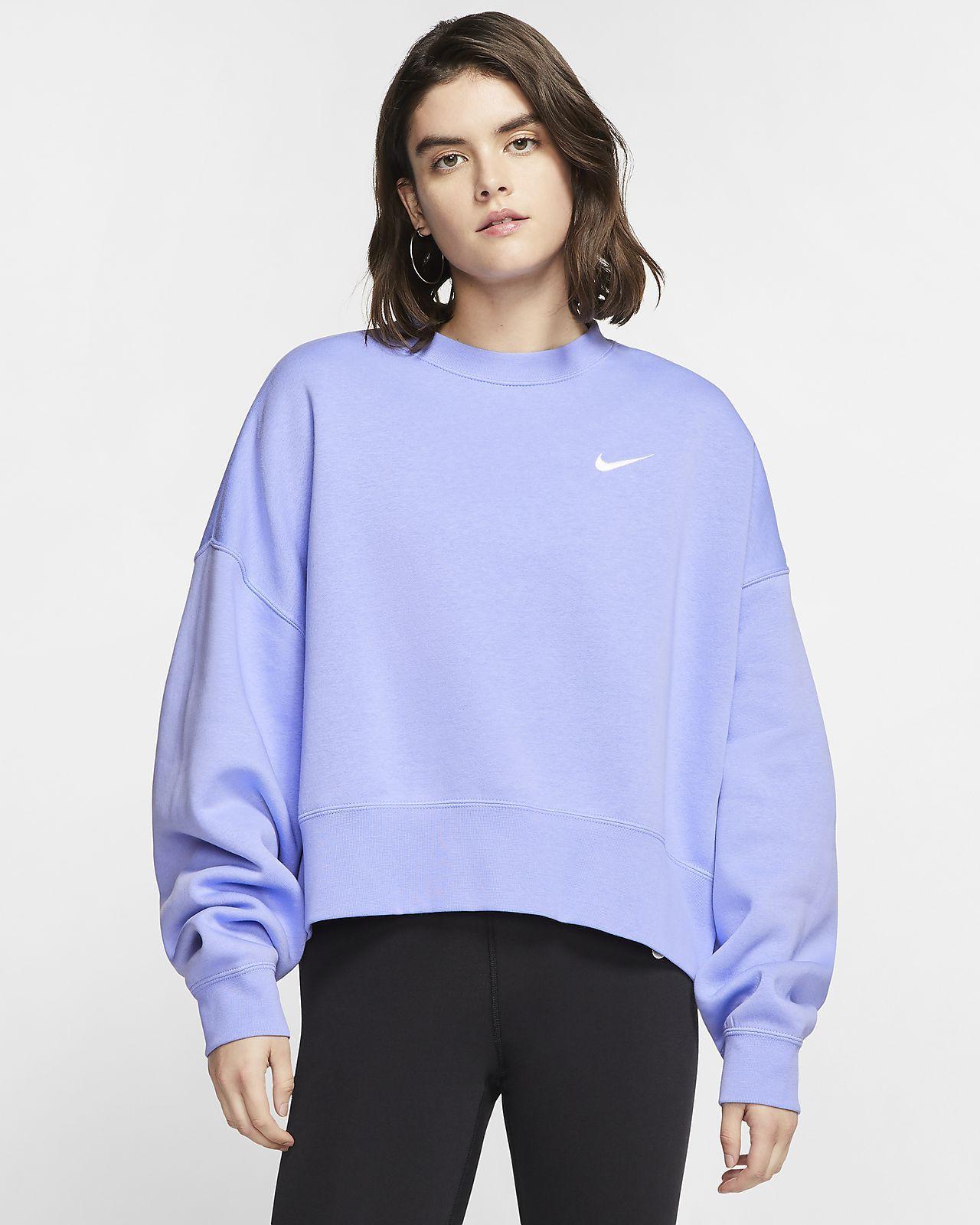 Nike Sportswear Essential Women S Fleece Crew Nike Com Nike Hoodies For Women Nike Women Sweatshirt Crewneck Sweatshirt Women [ 1600 x 1280 Pixel ]