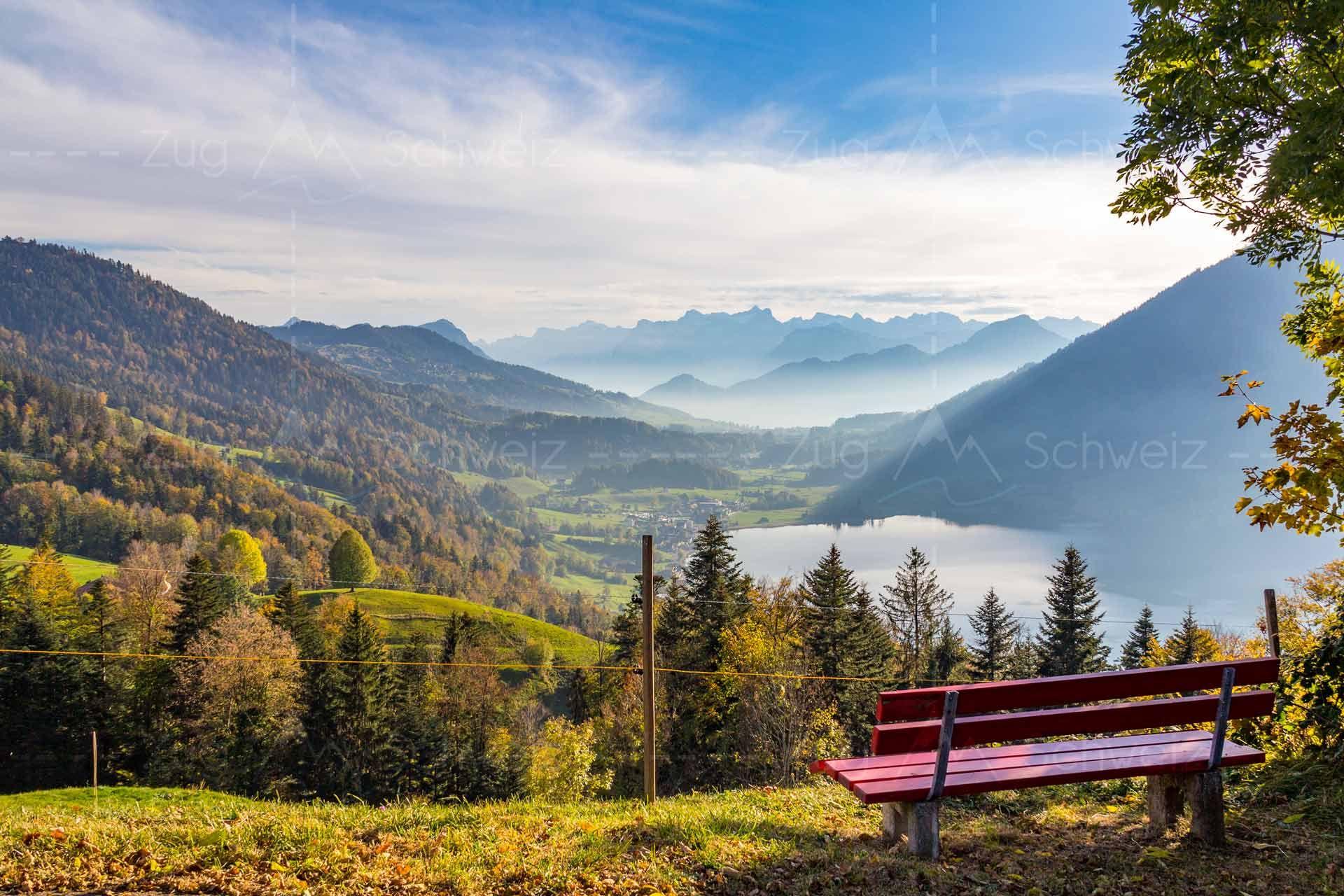 Agerisee Morgarten Morgartenberg Kantonzug Schweiz Alpen