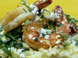 """Spinach and Lemon Risotto from """"Chuck's Day Off"""". Definitely need to try."""