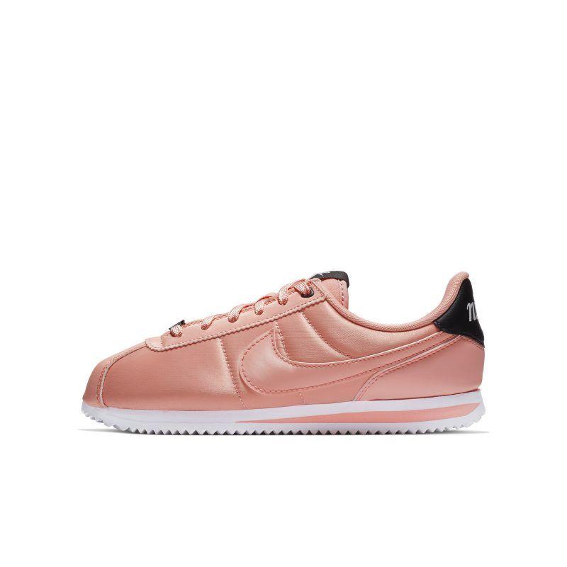 Nike Cortez Basic TXT VDAY Older Kids' Shoe Pink | Kids