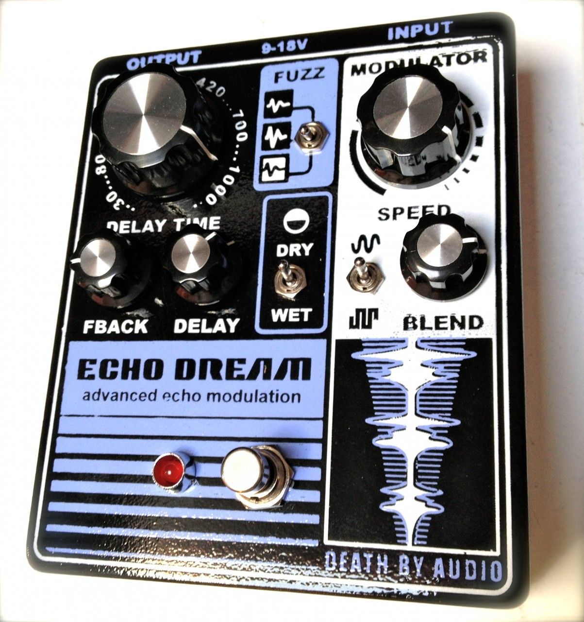 death by audio echo dream advanced echo modulation boutique pedal nyc musical weapons. Black Bedroom Furniture Sets. Home Design Ideas